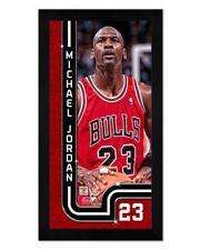 "Chicago Bulls Michael Jordan 6.75"" x 13 Mini Glass Front Frame NBA Basketball"
