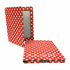 PU Leather Book Red Polka Dots Stand Folding Case Cover For Apple iPad 2 3 4