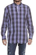 Strukturierte normale klassische Herrenhemden mit Button-Down-Kragen