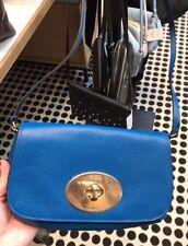 Nwt Coach Pebble Leather Turnlock Clutch Crossbody Bag F52896 - Denim