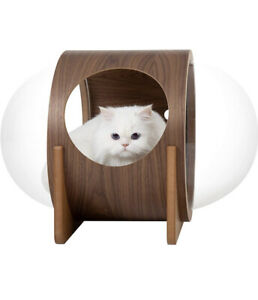 MYZOO Spaceship Alpha Warm and Cozy Pet Bed for Cat & Dog (Walnut).