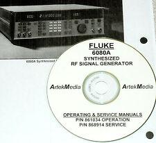 Fluke 6080A Synthesized Signal Generator Operating & Service Manuals