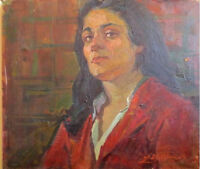 Soc-Realism Art ARMENIAN WOMAN Painting VARDGES STEPANYAN Listed USSR Russian NR