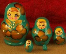Handpainted Russian Nesting Doll 5 Pcs 3.2*