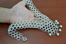 HANDMADE SILVER PLATED METAL JUMP RING NECKLACE BRACELET #T-3X3