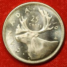 1964 CANADIAN QUARTER BU 80% SILVER GREAT COLLECTOR COIN GIFT CAQ20