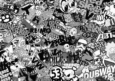 "/""I love my VW/"" Sticker Bomb effect sticker//decal 200mm"