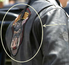 "WILD HOGS MOVIE BIKER GANG LEATHER JACKET BACK 12"" PATCH: HOG wearing GOGGLES"