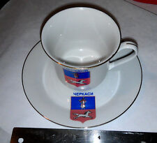 Horse Racing Tea Cup and Saucer Made by Atta in the Yepkacn Ukraine pictures