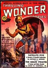 Pulp THRILLING WONDER STORIES October 1938 - John W. Campbell, Leslie Charteris