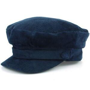 Captain's Cap Breton Hat Cord BLACK NAVY BLUE Mariner Lennon Fisherman Fiddler