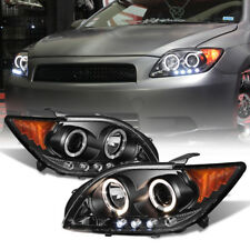 "2005-2006-2007 Scion TC ""TRD Style"" Black Halo LED Projector Headlights Assembly"