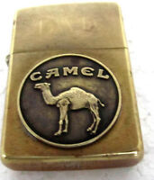 Zippo Brass Lighter with Standing Camel Medallion 1932-1992