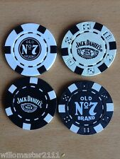 4  DIFFERENT GENUINE  JACK DANIELS POKER CHIPS   FROM 2008/11