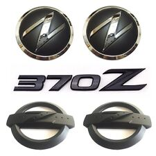 5x Black 370 Z Car Body Front Rear Emblem Stickers for NISSAN 370Z Fairlady Z34