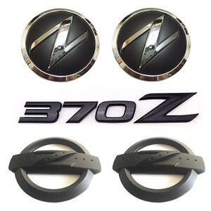 Black 370Z Kit Front Hood Side Body Badge Emblem Letter for 370 Fairlady Z