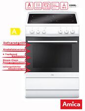 Standherd 60cm Elektro Weiß Grill Umluft Amica SHC 11661 W