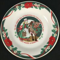 Salad Plate Tienshan DECK THE HALLS Eight Maids A-Milking 12 Days of Christmas