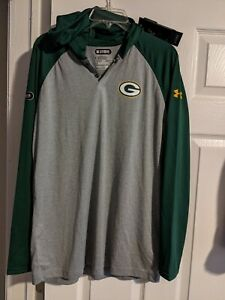 NWT Green Bay Packers Under Armour NFL Moisture Wick Hoodie Size M MSRP $55