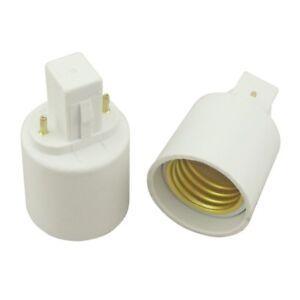 ADATTATORE DA E27 A G23 LAMPADINE LED E ALOGENE CONVERTITORE RIDUTTORE E2B5