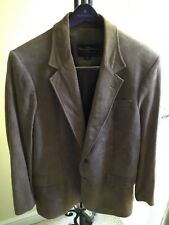 70s Vintage Rudy Harris Ltd Clothier of Carmel Taupe Suede Jacket 44L Immaculate