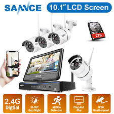 """SANNCE Wireless CCTV Full 1080P System 8CH 10.1""""NVR Home Security Camera Kit 2TB"""