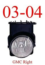 03 04 GMC Right Fog Light Assembly, Truck, Sierra, 1500, 2500, 3500, GM2593128