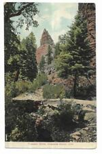 Vintage Colorado Linen Postcard Prospect Dome Cheyenne Canon