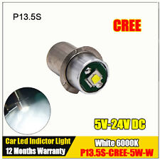 1X P13.5S PR2 PR3 PR4 CREE 5W Spot Torch indicator LED Light BULB 6V 12V 18V 24V