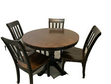 Ashley furniture heavy duty round wooden dining table
