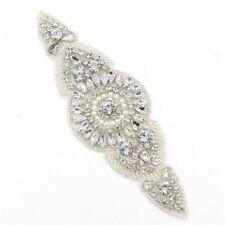 Crystal Beaded Rhinestone Applique Trims Sewing for Wedding Dress Belt Sash 1 pc