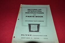 Oliver White Tractor STH Spring Tooth Harrow Operator's Manual BVPA