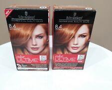 2 ~ Schwarzkopf Color Ultime Permanent Hair Color Cream Dye 8.4 Light Copper Red