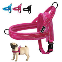 No Pull Front Clip Small Large Dog Pet Harness Plush Padded Quick Fit Reflective
