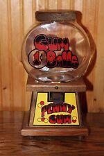 Vintage GUMBALL 1 Cent Glass Jar Wooden Bubble Gum Machine Penny gum