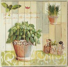 """Pro Art """"Sweet Herbs"""" Basilikum Kräuter Küchen Landhaus Bild Kunstdruck 27x27"""