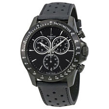 New Tissot V8 GTS Chronograph Black Dial Leather Strap Mens Watch T1064173605100