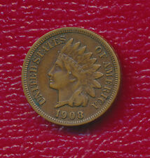 """New listing 1908-S Indian Head Cent *Full """"Liberty"""" - Very Fine Coin* Free Shipping!"""