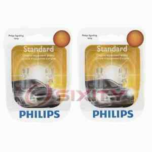 2 pc Philips Front Side Marker Light Bulbs for Saab 9-2X 9-3 9-3X 9-5 900 no