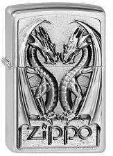 ZIPPO Feuerzeug TWINS DRAGON HEART m. Emblem Drachen NEU OVP Sammlerstück