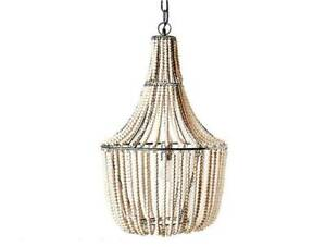 """Bee & Willow Home Francesca Chandelier in White -18"""" L x 18"""" W x 29.5"""" H"""