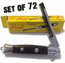 (72) POCKET SWITCHBLADE COMB FAKE FOLDING NOVELTY KNIFE TOY SWITCH BLADE COMBS