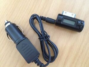 NEW FM TRANSMITTER FOR IPHONE 3G,4,4S WITH CAR CHARGER PLAY MP3 THROUGH RADIO