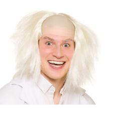 Mad Scientist Crazy Guy Halloween Fancy Dress Wig White