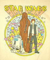 Psychedelic Star Wars R2D2 Chewy Hans Solo Peter Max Homage T-Shirt New Sz Med