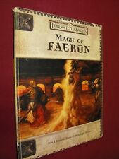 DUNGEONS AND DRAGONS FORGOTTEN REALMS MAGIC OF FAERUN RPG PAPERBACK BOOK