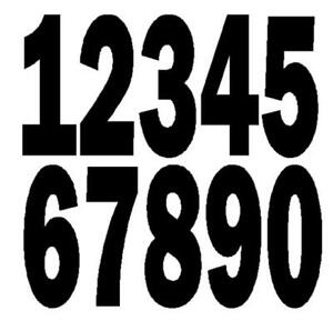 Security Letters - Postcode for Caravan Motorhome Roofs, 280mm High, A4 sized