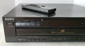 Sony CDP-C525 Home Audio Stereo System 5 Multi Disc CD Carousel Player W/Remote