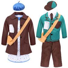 CHILDS WARTIME COSTUME BOYS & GIRLS WW2 HISTORIC SCHOOL CURRICULUM FANCY DRESS