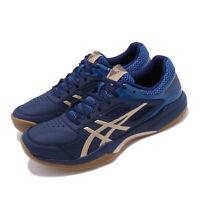 Asics Gel-Court Hunter Peacoat Blue Silver Gum Mens Badminton Shoes 1071A020400